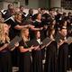 chorale members singing