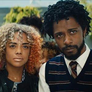 woman and man from the film, Sorry to Bother You