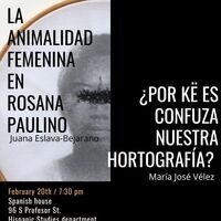 La animalidad femenina en  Rosana paulino/ ¿Por ke es confusa nuestra Hortografía?