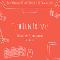 Tech Fun Fridays - Panel for DE Guideline 5.3