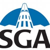 SGA logo with SGA text and University Center Cone