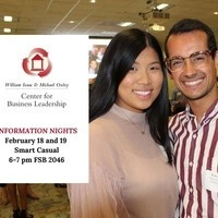 Center for Business Leadership information night