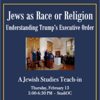 Jews as Race or Religion: Understanding Trump's Executive Order