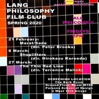 LANG PHILOSOPHY FILM CLUB