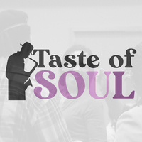 Photo of an individual dancing, Text reads: Taste of Soul with icon of a saxophone player.