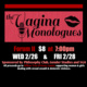 The Vagina Monologues flier with event information