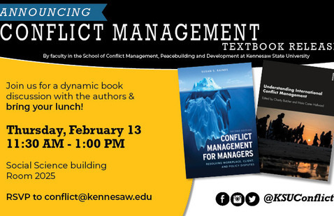 Conflict Management Textbook Release Brown Bag Luncheon
