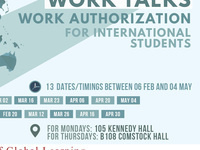 Work Talks - Work Authorization for International Students *see description for update*