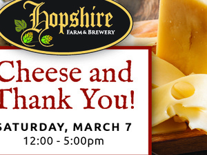 Hopshire Hosts NYS Cheese Tasting Event