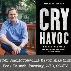Book Launch for Former Charlottesville Mayor Signer