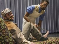 "Nathaniel Kidd (left) and Gershawn Mason in a scene from ""The Whipping Man"""