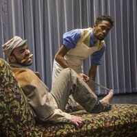 """Nathaniel Kidd (left) and Gershawn Mason in a scene from """"The Whipping Man"""""""