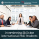 Interviewing Skills for International PhD Students