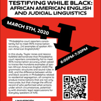 Testifying While Black: African American English and Judicial Linguistics