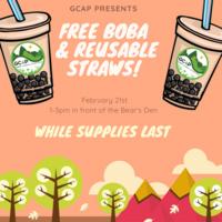 GCAP Free Boba & Reusable Straws