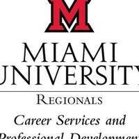 Logo text reads: Miami University Regionals Career Services and Professional Development