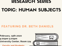 Part Three of a Research Series: Human Subjects