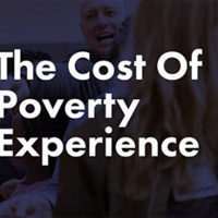 Text reads: The Cost of Poverty Experience