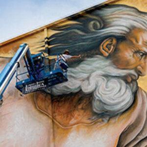 "Sebastien ""Mr. D"" Boileau painting mural"