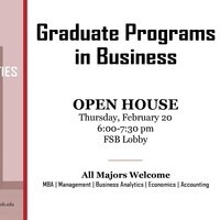 Graduate Programs in Business Open House