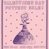 Clay Club Valentines Day Pottery Sale