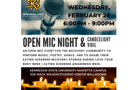 Open Mic Night and Candlelight Vigil