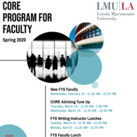 CORE Program for Faculty Flyer