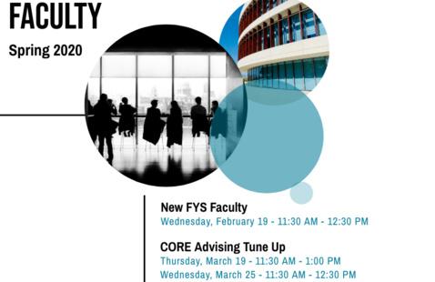 CORE Program for Faculty Flyer