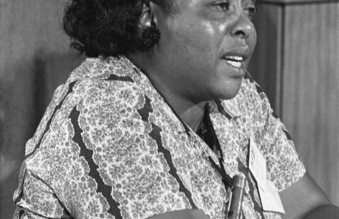 Fannie Lou Hamer, a leader of the Civil Rights Movement