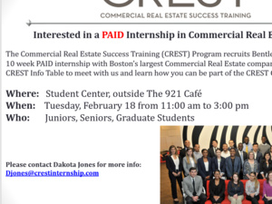Commercial Real Estate Success Training (CREST) Info Session