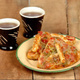 Tea and pizza