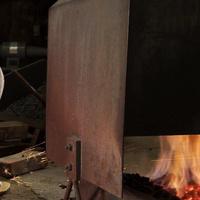 Keizo Myochin at work, forging a fire chopstick chime