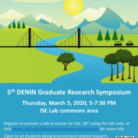 Last day to submit an abstract for the 5th Delaware Environmental Institute (DENIN) Research Symposium
