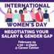Negotiating Your Salary & The Gender Pay Gap Workshop
