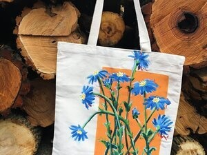 Paint with Anna: Daisy Tote Bag