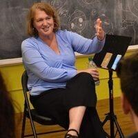 Celise Kalke teaching a class