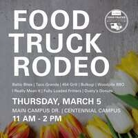 A poster promoting the Food Truck Rodeo.