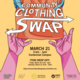 A poster promoting the Community Clothing Swap.