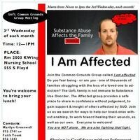 CANCELED: Common Grounds Group - I Am Affected