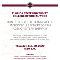 Jacksonville MSW Agency Internship Fair