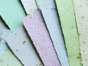 photo of handmade papers