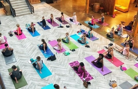 Yoga and Wine Class