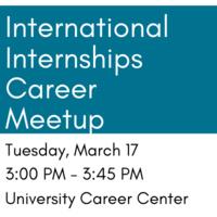 International Internships Career Meetup