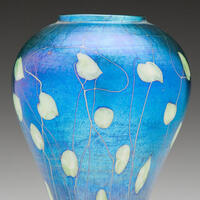 Louis Comfort Tiffany, 1848–1933. Vase, 1910. Made by Tiffany Studios (Corona, Queens, New York). Reynolda Estate.