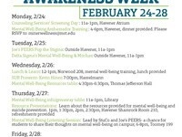 Mental Well-Being Awareness Week: Screening Day