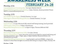 Mental Well-Being Awareness Week: Information Table