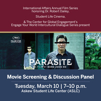 Parasite: Movie Screening and Discussion Panel