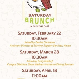 Poster of Hancock Commons Brunch with dates