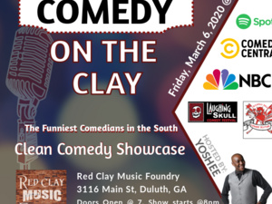 CLEAN Comedy on the Clay - Greg Behrens, Kourtlyn Wiggins, Nathan Owens, Sannchaz Blackmon, Sally Brooks, hosted by Yoshee