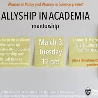 Allyship in Academia: mentorship